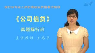 银行业专业人员职业资格考试《公司信贷(初级)》真题解析班(网授)