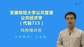 2018年安徽财经大学公共管理715公共经济学网授精讲班【教材精讲+考研真题串讲】