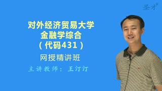 2019年对外经济贸易大学431金融学综合[专业硕士]网授精讲班(教材精讲)
