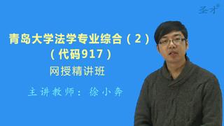 2019年青岛大学917法学专业综合(2)网授精讲班【教材精讲+考研真题串讲】