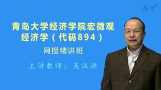 2019年青岛大学经济学院894宏微观经济学网授精讲班(教材精讲+考研真题串讲)