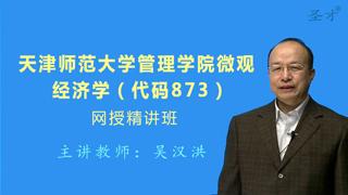 2019年天津师范大学管理学院873微观经济学网授精讲班(教材精讲+考研真题串讲)