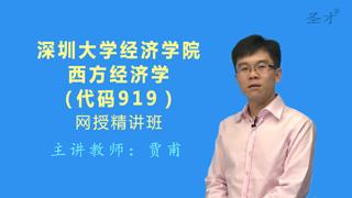 2019年深圳大学经济学院919西方经济学网授精讲班(教材精讲+考研真题串讲)