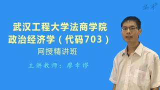 2019年武汉工程大学法商学院703政治经济学网授精讲班(教材精讲+考研真题串讲)