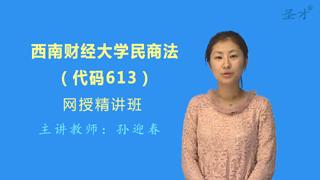 2019年西南财经大学613民商法网授精讲班【教材精讲+考研真题串讲】