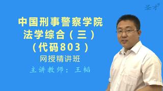 2021年中国刑事警察学院803法学综合(三)网授精讲班【教材精讲+考研真题串讲】
