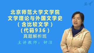 北京师范大学文学院936文学理论与外国文学史(含比较文学)真题解析班(网授)