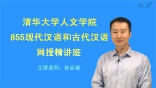 2021年清华大学人文学院《855现代汉语和古代汉语》网授精讲班【教材精讲+考研真题串讲】