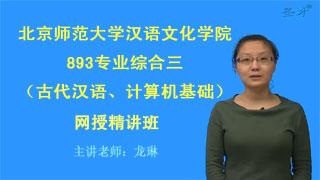 2020年北京师范大学汉语文化学院893专业综合三(古代汉语、计算机基础)网授精讲班【教材精讲+考研真题串讲】