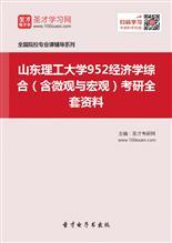 2019年山东理工大学952经济学综合(含微观与宏观)考研全套资料