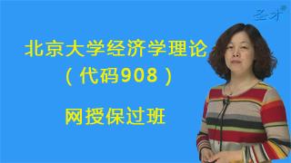 2018年北京大学国家发展研究院908经济学理论网授保过班