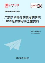 广东技术师范学院民族学院803经济学考研全套资料