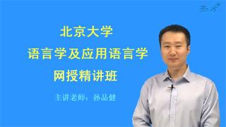 2018年北京大学624语言学及应用语言学网授精讲班【教材精讲+考研真题串讲】