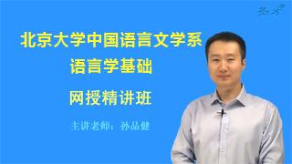 2020年北京大学中国语言文学系语言学基础网授精讲班【教材精讲+考研真题串讲】
