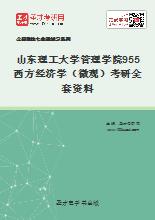 2019年山东理工大学管理学院955西方经济学(微观)考研全套资料