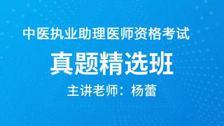 中医执业助理医师资格考试真题精选班