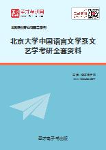 2020年北京大学中国语言文学系文艺学考研全套资料