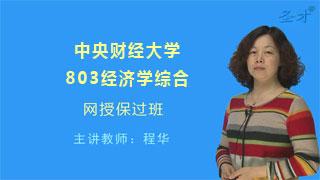 2019年中央财经大学803经济学综合网授保过班