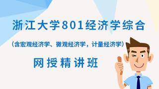 2021年浙江大学《801经济学综合》(含宏观经济学、微观经济学,计量经济学)网授精讲班(教材精讲+考研真题串讲)