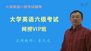2019年6月大学英语六级考试网授VIP班