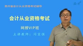 贵州省会计从业资格考试网授VIP班【基础+法规+电算化】