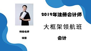 2020年注册会计师《会计》大框架领航班