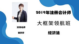 2020年注册会计师《经济法》大框架领航班