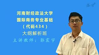 2021年河南财经政法大学国际经济与贸易学院《434国际商务专业基础》大纲解析班【大纲精讲+考研真题串讲】