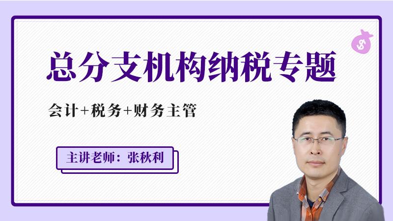 总分支机构纳税专题(会计+税务+财务主管)