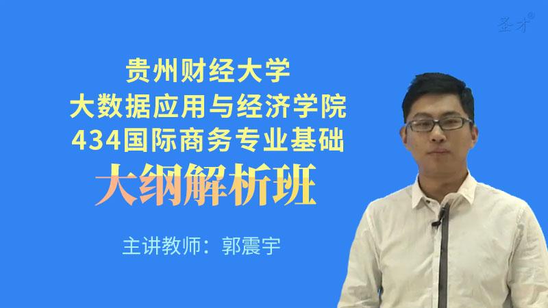 2022年贵州财经大学大数据应用与经济学院《434国际商务专业基础》大纲解析班(大纲精讲+考研真题串讲)