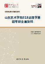 2019年山东艺术学院813法理学基础考研全套资料