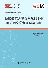 2019年沈阳师范大学文学院838中国古代文学考研全套资料