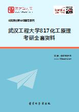 2019年武汉工程大学817化工原理考研全套资料
