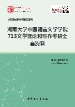 2019年湖南大学中国语言文学学院715文学理论和写作考研全套资料