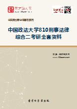 2019年中国政法大学810刑事法律综合二考研全套资料