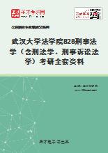 2021年武汉大学法学院828刑事法学(含刑法学、刑事诉讼法学)考研全套资料