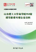 2020年山东理工大学商学院958管理学原理考研全套资料