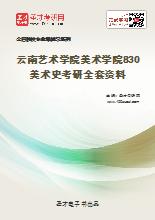 2021年云南艺术学院美术学院830美术史考研全套资料