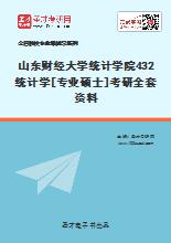 2020年山东财经大学统计学院432统计学[专业硕士]考研全套资料