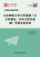 2020年山东师范大学文学基础(含文学理论、中外文学史基础)考研全套资料