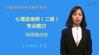 心理咨询师(二级)专业能力网授精讲班【教材精讲+真题串讲】