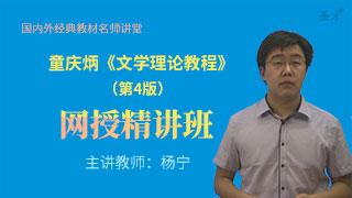 童庆炳《文学理论教程》(第4版)网授精讲班【教材精讲+考研真题串讲】