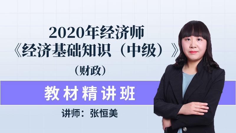 2020年经济师《经济基础知识(中级)》(财政)教材精讲班