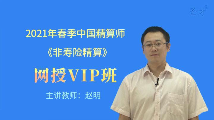 2021年春季中国精算师《非寿险精算》网授VIP班